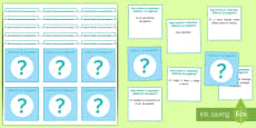 * NEW * Guess the Question in Spanish Card Game