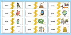 Phase 5 Real o-e Split Digraph Words Matching Cards