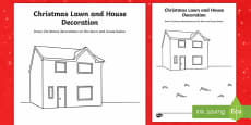 Christmas Lawn and House Decoration Activity