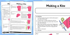 Let's Go Fly a Kite Activity Sheet Making a  Kite