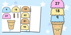Counting in 9s Ice Cream Activity