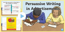 Persuasive Writing in Advertisements PowerPoint