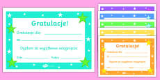 Editable Reward Certificates Polish