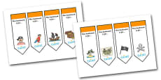 Editable Pirates Bookmarks