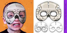 3D Halloween Skeleton Monster Role Play Mask