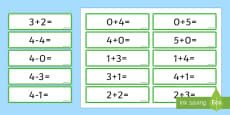 Number Bonds 4 and 5 Number Sentence Cards