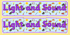 Light and Sound Display Banner