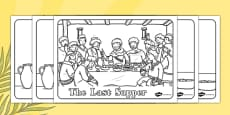 The Last Supper Colouring Sheets