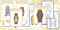 Goldilocks and the Three Bears Picture Cards