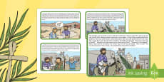 * NEW * Palm Sunday Story Sequencing Cards