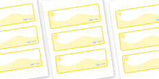 Yellow Themed Editable Drawer-Peg-Name Labels (Colourful)