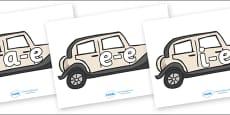 Modifying E Letters on Wedding Cars