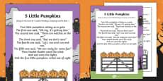 EYFS 5 Little Pumpkins Poem
