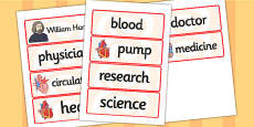 William Harvey Word Cards