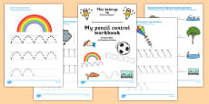 Line Handwriting Activity Sheets Romanian Translation