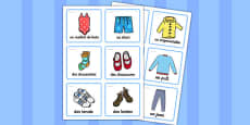 Clothing Labels (French)