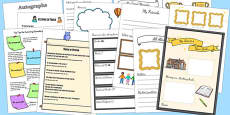Leavers Year Book Template Pack
