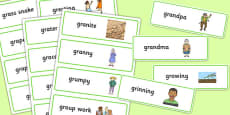 Two Syllable GR Word Cards