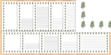 Birch Tree Themed Page Borders