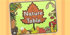 Nature Table Sign