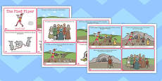 The Pied Piper Story sequencing 4 per A4 Arabic Translation