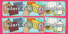 Tailors and Dressmakers Shop Display Banner