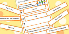 What Is Important In A Friend Sorting Activity