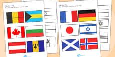 Flag Symmetry Activity Sheets (Australia)