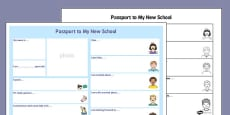 Passport Template to a New School