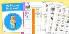 Picture Dictionary Animals Word Cards Pack