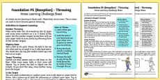 Foundation PE (Reception) - Throwing Home Learning Challenge Sheet