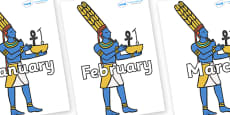 Months of the Year on Egyptians