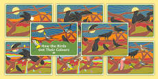 How the Birds Got Their Colours Story Sequencing Cards