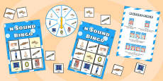 n Sound Bingo Game with Spinner