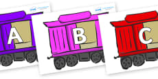 A-Z Alphabet on Carriages