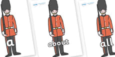 100 High Frequency Words on Royal Guards