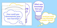 Learning Questions for Display Poster