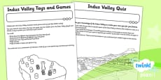 PlanIt - History UKS2 - The Indus Valley Unit Home Learning Tasks