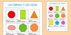 Ficha - Las formas y los lados