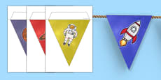 World Space Week Bunting