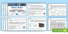 Y5 Winter Themed Maths Challenge Cards
