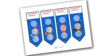 Superhero Themed Reward Bookmarks 30mm