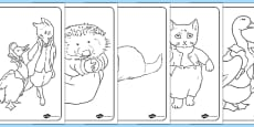 Beatrix Potter Colouring Pages