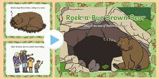 Rock-a-Bye Brown Bear Song PowerPoint