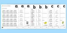 a-z Letter Formation Activity Sheets