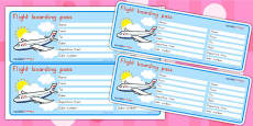 Editable Airline Boarding Pass - Australia