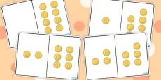 Pirate Gold Coins Counting Number Bonds to 8