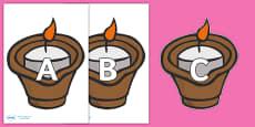 A-Z Alphabet on Diva Lamps