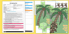 Climbing Monkey Counting Game EYFS Adult Input Plan and Resource Pack to Support Teaching on Rumble in the Jungle