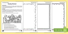 Family Portrait Activity Sheet